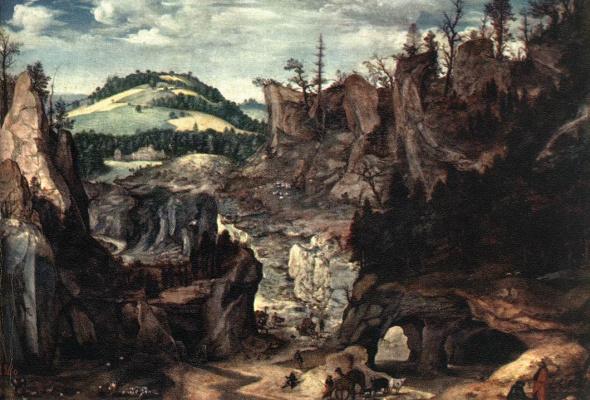 Корнелис Ван Далем. Пейзаж с пастухами