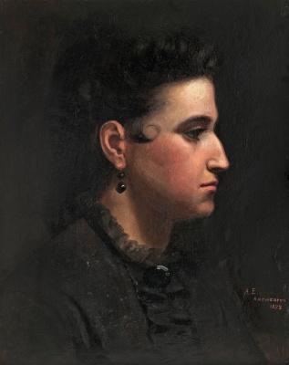 Albert Gustav Aristide Edelfelt. Female portrait. 1873