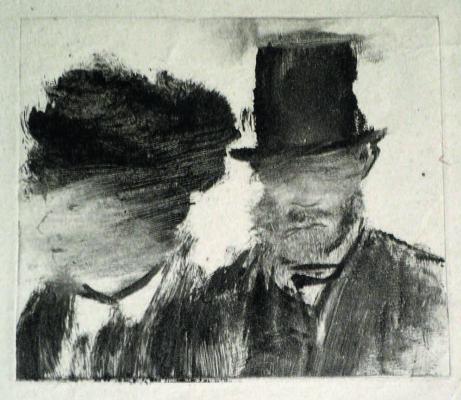 Эдгар Дега. Женская и мужская головы