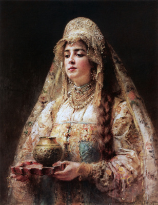 Konstantin Makovsky. Charka of honey