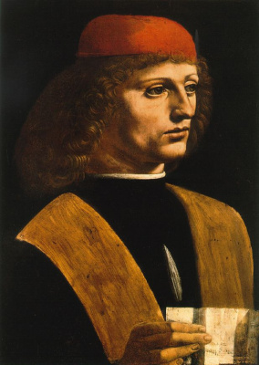 Giovanni Ambrogio de Predis. Portrait of a musician