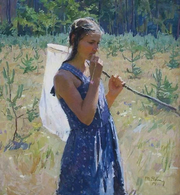 Tetyana Yablonska. Girl with butterfly net