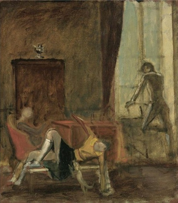 Balthus (Balthasar Klossovsky de Rola). Three in the interior