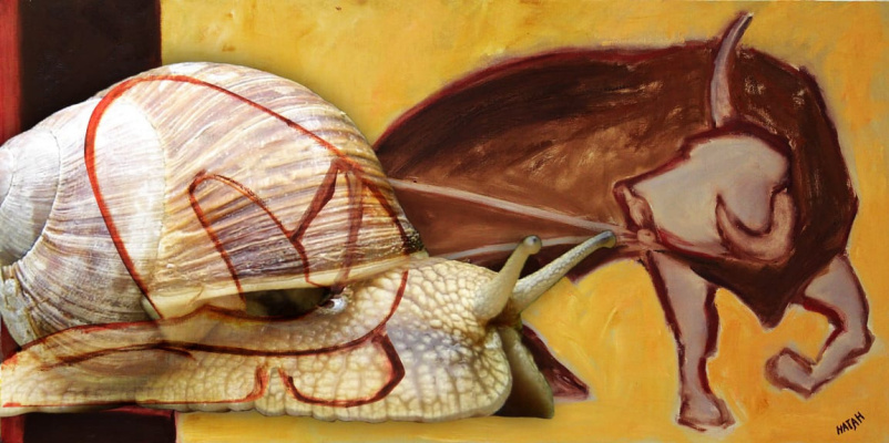 Nathan Gallery. The bull and the clam-man are the champions of pair tourism. There is no better tandem in the world of realism