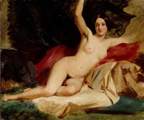 Etty William. Nude in the landscape