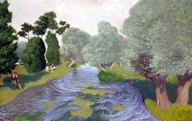 Felix Vallotton. Landscape. Arques-La-Bataille