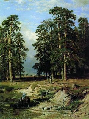 "Ivan Ivanovich Shishkin. ""Holy spring"" near Elabuga"