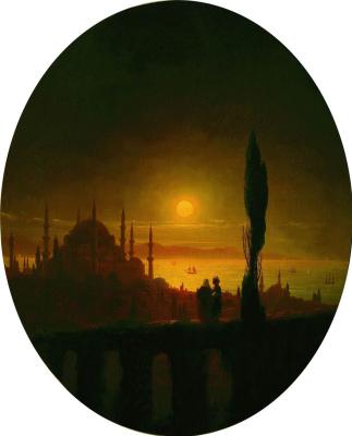 Ivan Constantinovich Aivazovski. Moonlit night in seaside
