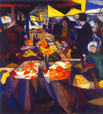 Александр Константинович Богомазов. Hay Market. Kiev