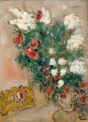 Марк Захарович Шагал. Ваза с белой сиренью