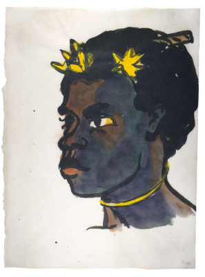 Emil Nolde. Portrait of a woman from the South island