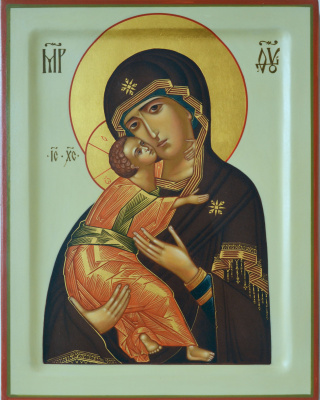 Vladimir Alekseevich Konnov. Icon of the Virgin of Vladimir
