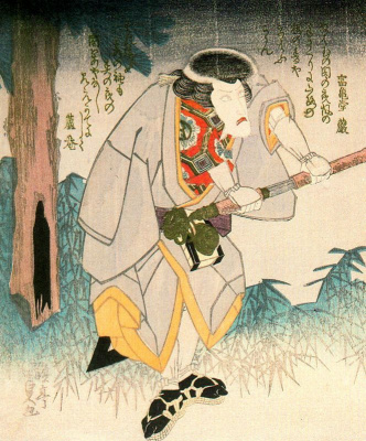Утагава Кунисада. Актер кабуки Итикава Данзюро VII в роли Итикавы Гоэмона