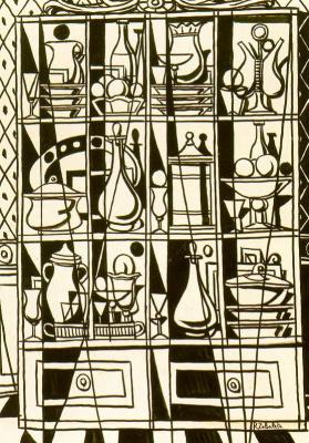 Рафаэль Сабалета. Эскиз буфета, окно таверны