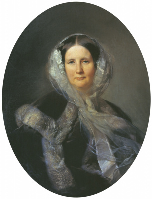 Sergey Konstantinovich Zaryanka. Portrait of an Unknown Lady from the Golitsyn Family