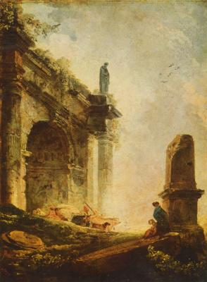 Hubert Robert. Ancient ruins