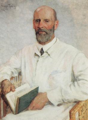 Igor Grabar. Portrait of the artist, Museum worker Pyotr Ivanovich Narodovskogo