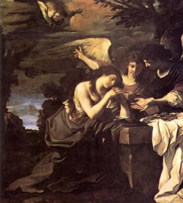 Джованни Франческо Гверчино. Магдалина и два ангела
