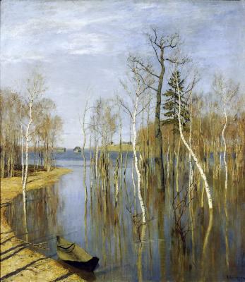 Исаак Ильич Левитан. Весна. Большая вода