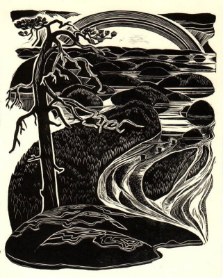Myud Maryevich Mechev. Illustration for Kalevala (frontispiece)