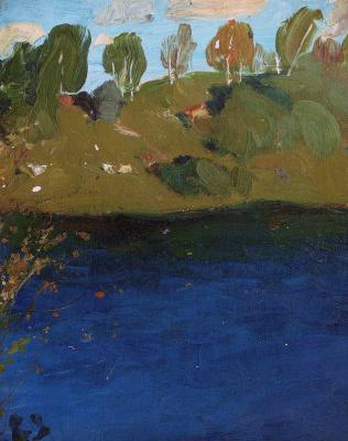 Исаак Ильич Левитан. Озеро. Осень
