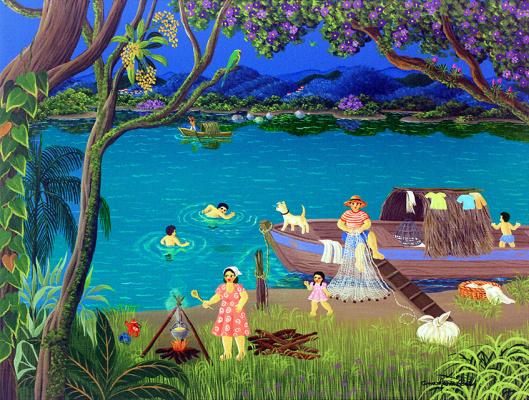 Anna Maria Dias. By the river