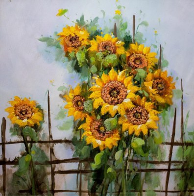Maria Potapova. Still life with sunflowers N2