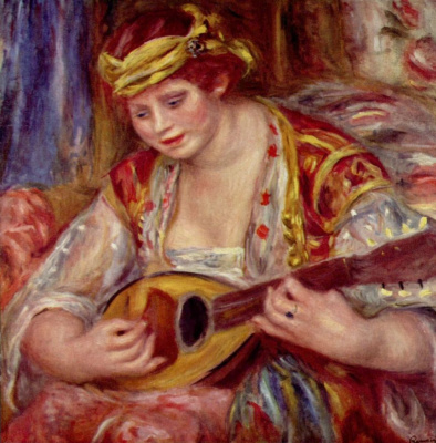 Pierre-Auguste Renoir. Woman with a mandolin