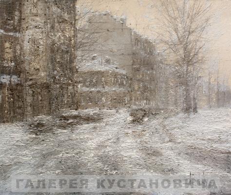 Dmitry Alexandrovich Kustanovich. A snowstorm in St. Petersburg