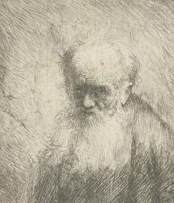 Jan Lievens. A man with a long beard
