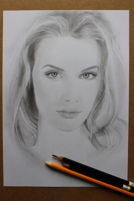 Shop Artists. Pencil portrait