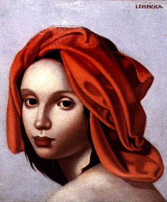 Tamara Lempicka. The girl in the orange turban