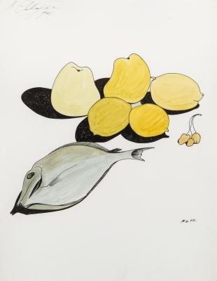 Michael Shemyakin. Still life with fish and Lemons.