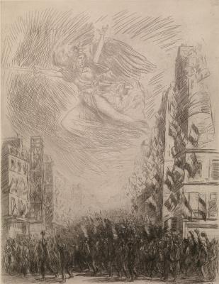 """Theophile-Alexander Steinlen. Mobilization, or """"Marseillaise"""""""