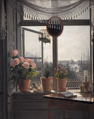 Martinus Rorby. View from the artist's room