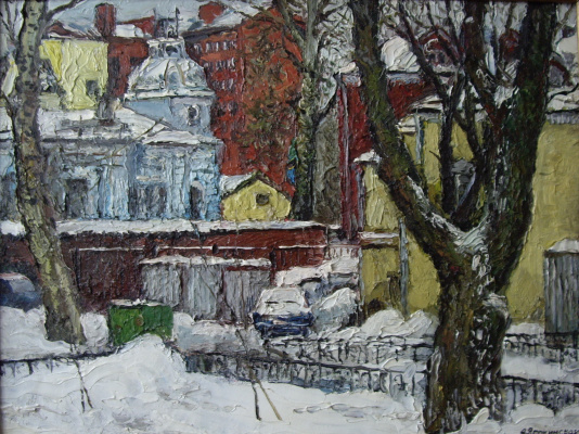 Artist Painter and Graphic Anna Yaguzhinskaya. View from Novokuznetskaya street