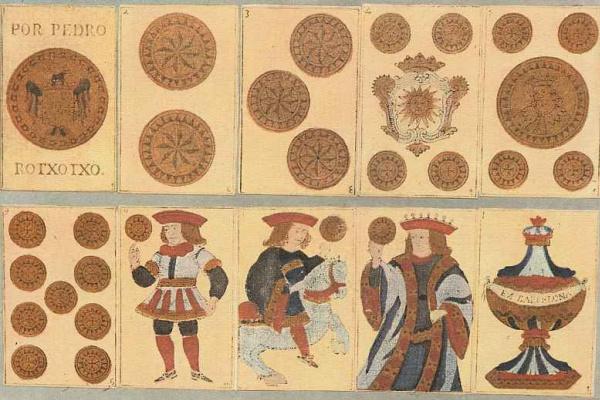 Лицевая и оборотная сторона игральных карт