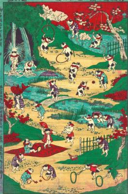 Утагава Кунитоси. Кошачьи игры