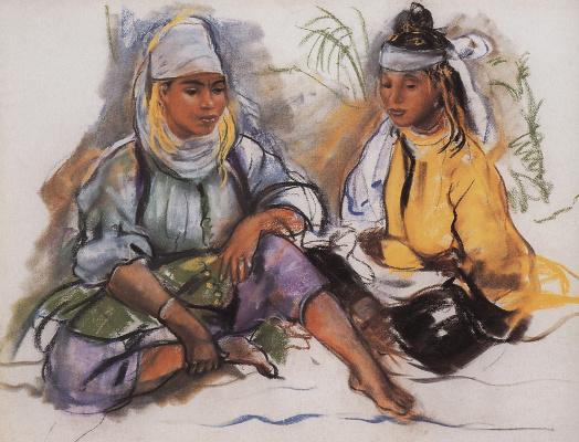Zinaida Serebryakova. The two Moroccan