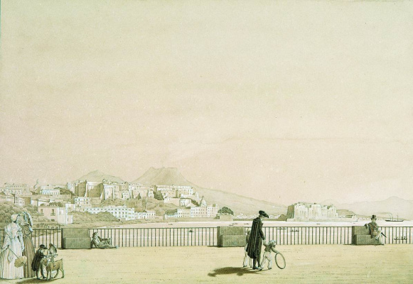 Fedor Petrovich Tolstoy. Naples. View from Villa Reale