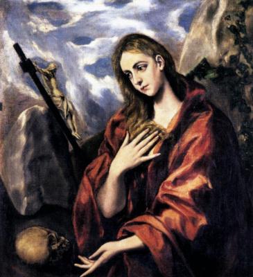 Domenico Theotokopoulos (El Greco). Mary Magdalen in Penitence