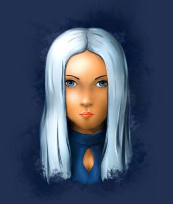 Platon Nikolayevich Starodubov. Girl with white hair