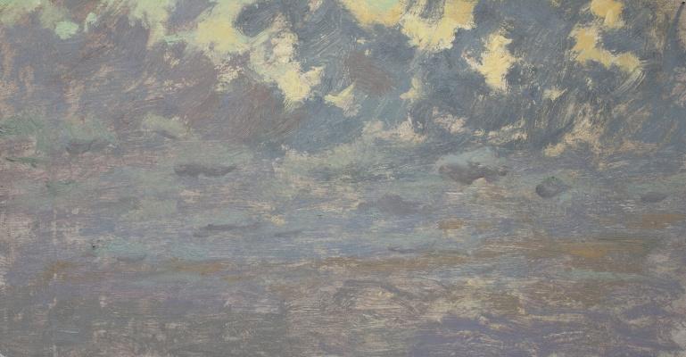 Igor Igorevich Krieger. Evening clouds