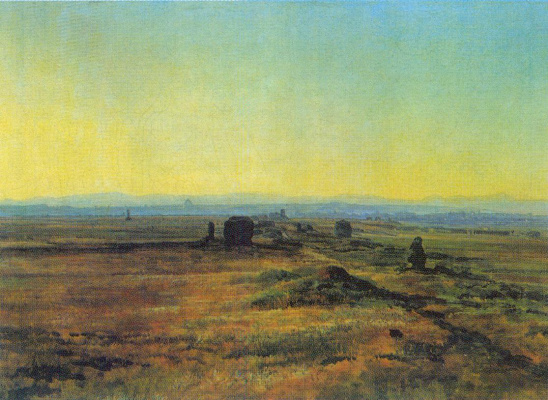 Alexander Andreevich Ivanov. The Appian way at sunset