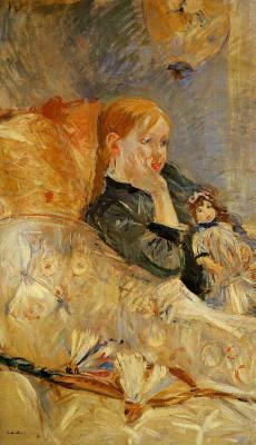 Berthe Morisot. Little girl with doll