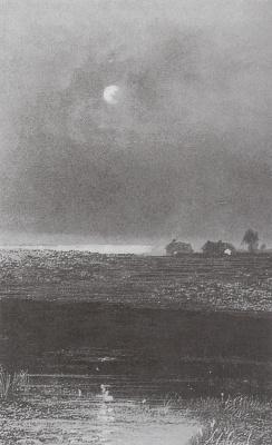 Alexey Savrasov. Night. Drawing from the album E. V. Kulzhenko