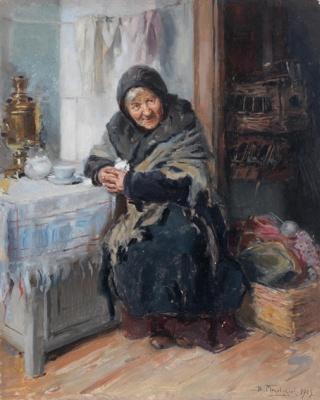 Vladimir Egorovich Makovsky. Laundress
