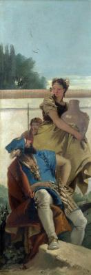 Джованни Баттиста Тьеполо. Seated man, woman with jug and boy