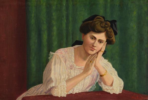 Макс Эрнст. Портрет молодой женщины