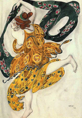 Lev Samoilovich Bakst (Leon Bakst). Costume design for the ballet N. N. Tcherepnin Narcisse